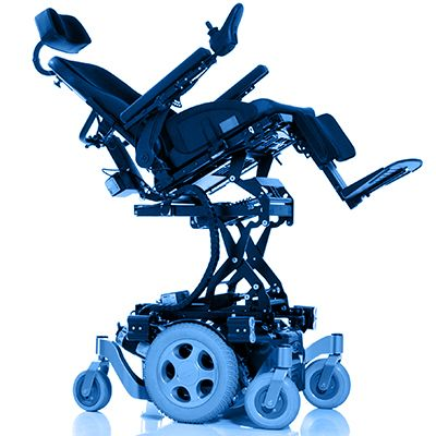 Symbol picture, electric wheelchair with seat lift