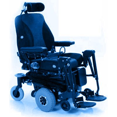 Symbol picture, electronic wheelchair with anti-tipper