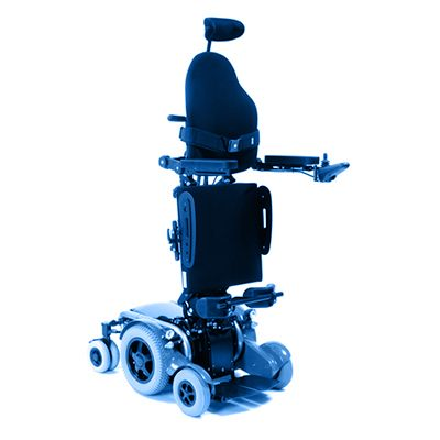 Symbol image, electric standing wheelchair