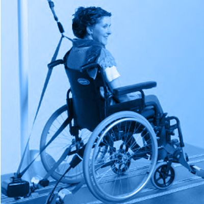 Symbol picture, wheelchair fastening system