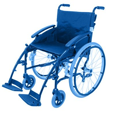 Symbol picture, transport wheelchair