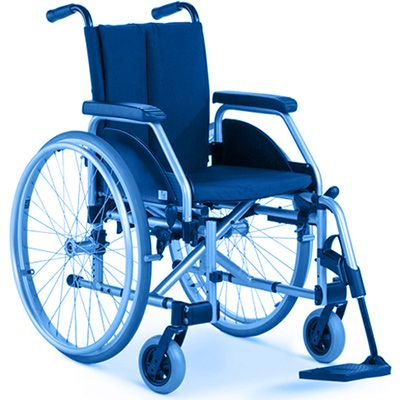 Symbol picture, triple wheelchair