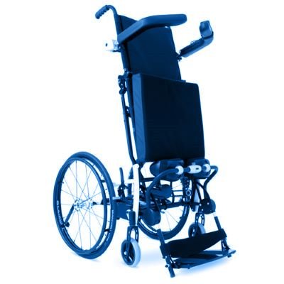 Symbol image, manual standing wheelchair